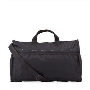 LeSportsac large duffle bag black carry on tote